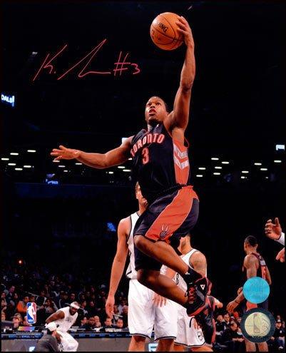 57e3a7a94 Kyle Lowry Toronto Raptors Autographed Tdot First Season Layup 11x14 Photo  - Authentic Autographed Autograph