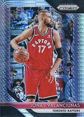 26d6e55ead7 2018-19 Panini Prizm Prizms Hyper #93 Jonas Valanciunas Toronto Raptors  Basketball Card