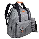HapTim Multi-Function Baby Diaper Bag Backpack W/Stroller Straps,Large...