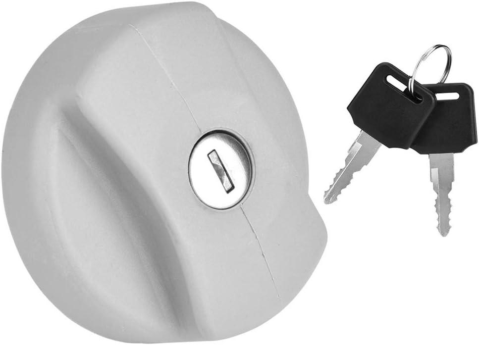 EVGATSAUTO Coperchio tappo tappo serbatoio carburante con chiavi adatto per Vectra Corsa Blocco tappo serbatoio carburante 170 2834//932 24461