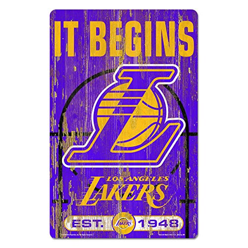 WinCraft Los Angeles Lakers Wood Sign - Los Angeles Lakers Wood