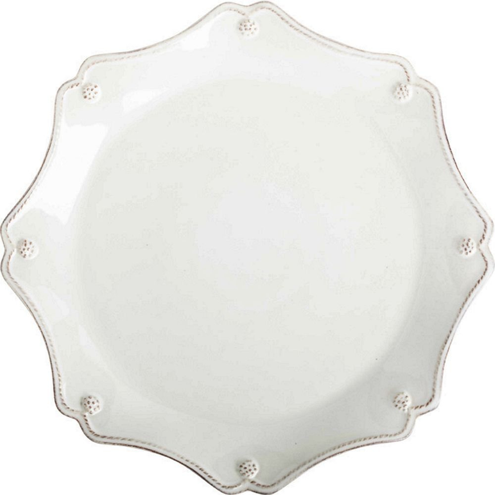 Christmas Tablescape Décor - Whitewash Berry & Thread scallop charger plate by Juliska
