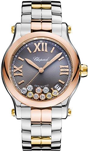- Chopard Happy Sport Round Ladies Two Tone Diamond Swiss Automatic Watch 278559-9001