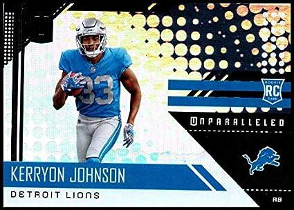separation shoes 5382f ea24f Amazon.com: 2018 Unparalleled NFL #217 Kerryon Johnson RC ...
