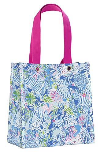d43980ce82d5 Lilly Pulitzer Reusable Market Shopper Bag, Lion Around