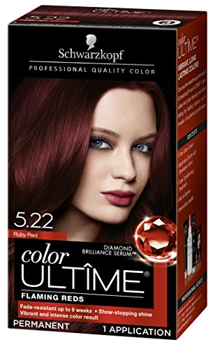 (Schwarzkopf Color Ultime Hair Color Cream, 5.22 Ruby Red (Packaging May Vary))