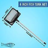 FISH PROS Fine Mesh Fish Tank Net with Long