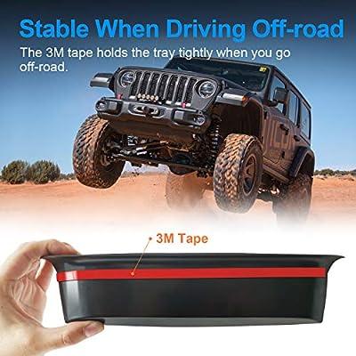 JOINT STARS GrabTray Passenger Storage Tray Organizer Grab Handle Accessory Box for 2011-2020 Jeep Wrangler JK JKU, Interior Accessories, Black/Red: Automotive