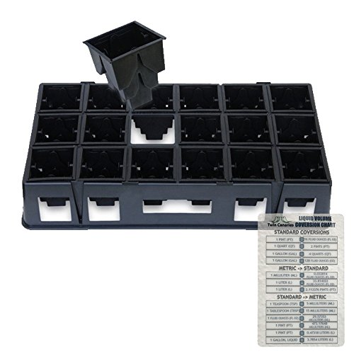 ROOTMAKER II SHUTTLE TRAY & 18 PROP POTS EXPRESS BUNDLE + TWIN CANARIES CHART by RootMaker