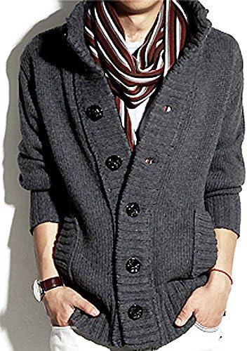 (SGL Collection) カーディガン メンズ ニットカーディガン デザイン 長袖 スタンドカラー リブニット 4色選択 S ~ XXL 【日本向けサイズ仕様】