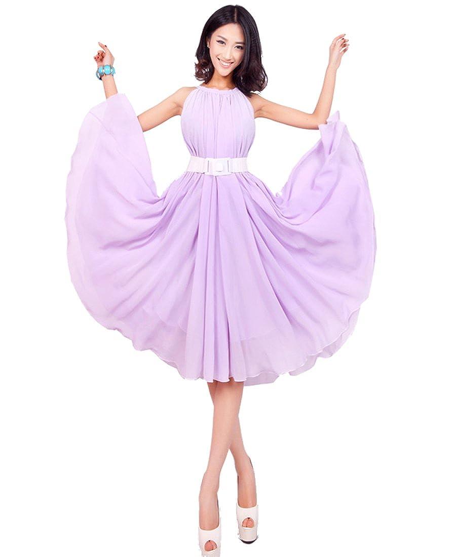 dee82d8a9df2 Medeshe Women s Lavender Short Bridesmaid Maxi Dress Sundress at Amazon  Women s Clothing store