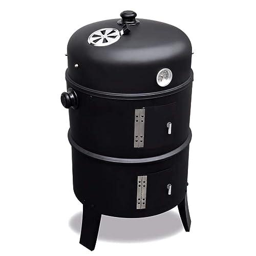 Xingshuoonline Räucherofen Smoker Grillspieß Set Drehspieß für Barbecue