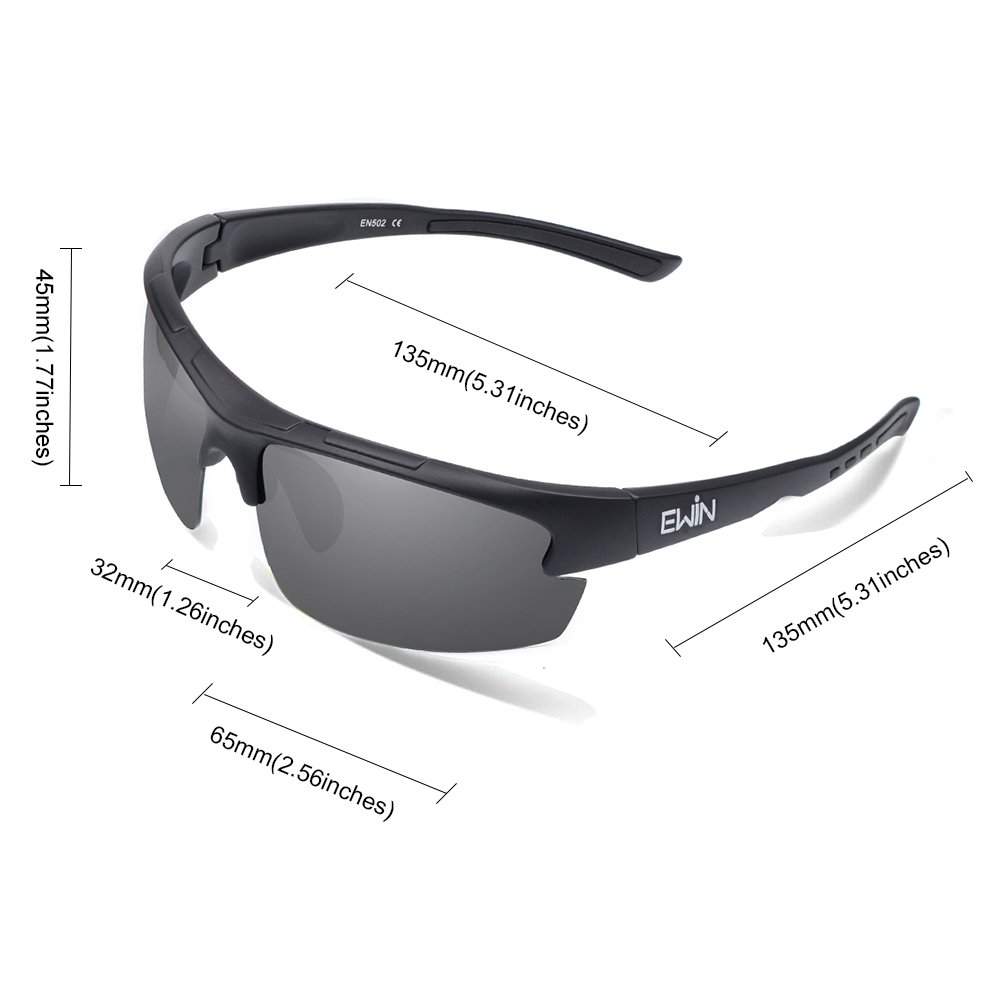 db8d5332ff87 Amazon.com   Ewin E52 Polarized Glasses Sports Sunglasses for Men Women  Baseball Golf Driving Fishing Cycling Running   Sports   Outdoors