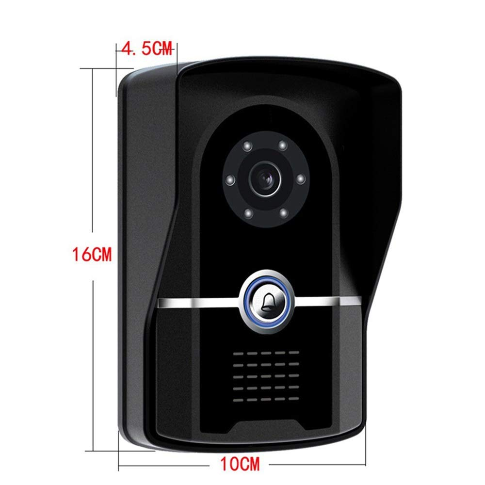 KRPENRIO 7 inch fashion new touch button video doorbell one pair two by KRPENRIO (Image #5)
