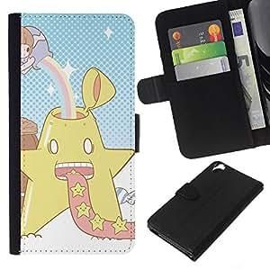 """A-type (Star Power"""") Colorida Impresión Funda Cuero Monedero Caja Bolsa Cubierta Caja Piel Card Slots Para HTC Desire 820"""