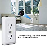 Spy Camera Outlet Fuvision Motion Activated Hidden Camera with 1080P FHD Pinhole Camera 15 Days Battery Life and 16GB Memory Loop Recording DVR Perfect for Home Security and Surveillance(Decoy Outlet)