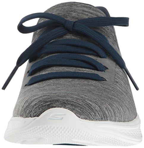 Skechers Performance Womens Go Walk 4 Adc Tutto Il Giorno Comfort Walking Scarpa Grigio / Blu Scuro