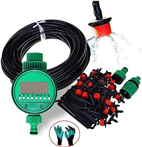 Amazon Com Ontopon 25m Diy Micro Drip Irrigation System Plant Self Automatic Watering Garden Hose Kits With Adjustable Dripper With A Free Garden Glove 25m Garden Outdoor