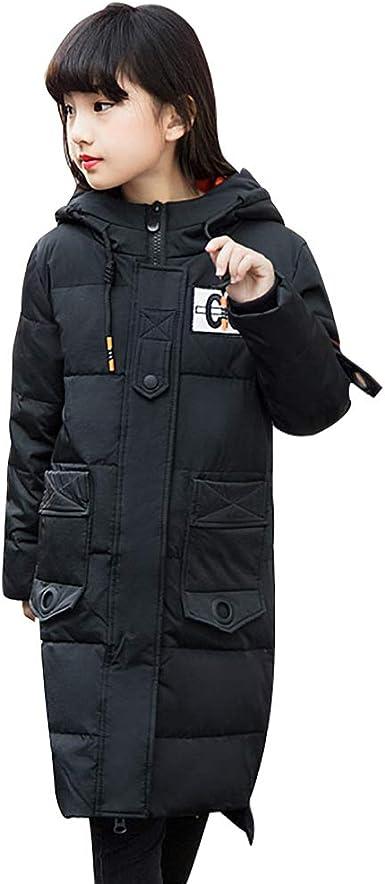 SITENG Girls Kids Winter Hooded Down Coat Puffer Jacket Parka Padded Overcoat Big Girls Mid-Long