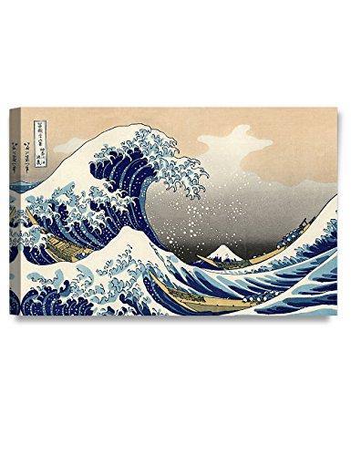 - DECORARTS - The Great Wave Off Kanagawa, Katsushika Hokusai Classic Art Reproductions. Giclee Canvas Prints Wall Art for Home Decor. 30x20 x1.5