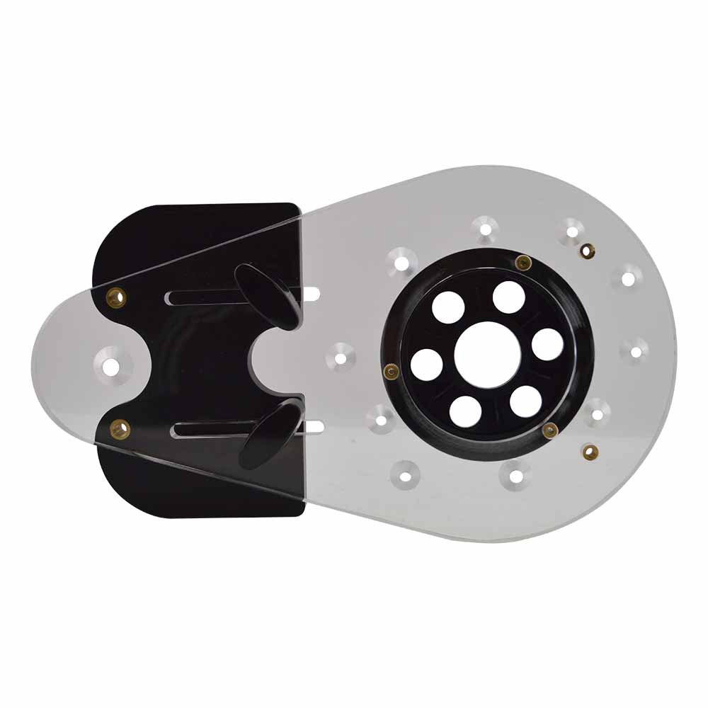 Big Horn 14107 Universal Offset Router Base Plate Fits Bosch, DeWalt, Porter Cable, Hitachi