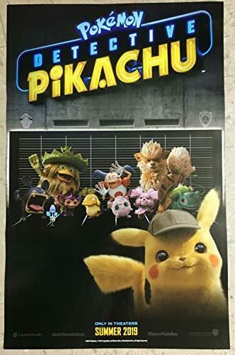 "Pokemon Detective Pikachu Movie Poster GameStop Exclusive Promo 11"" x 17"""