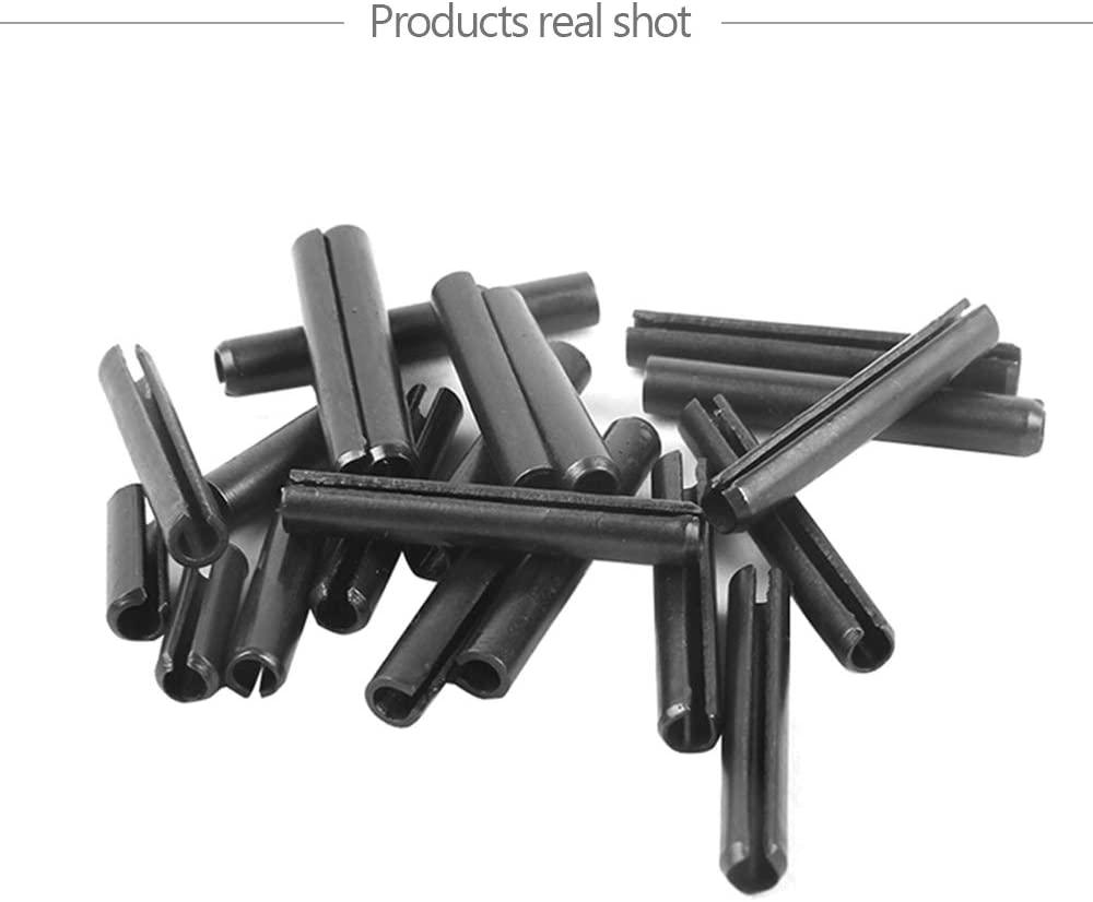 Goupilles Fendues de Securite Noir M6 100//200PCS YINSONG Goupille Elastique en acier au carbone