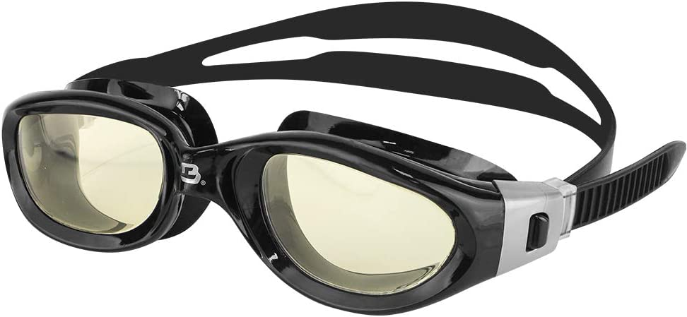 One-Piece Frame Quick-fit No Leaking Comfortable for Adults Men Women #13535 Oversize Triathlon Open Water Barracuda Swim Goggle Manta Easy Adjusting Anti-Fog UV Protection