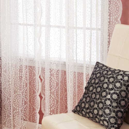 Best Home Fashion Sheer Lace Curtains