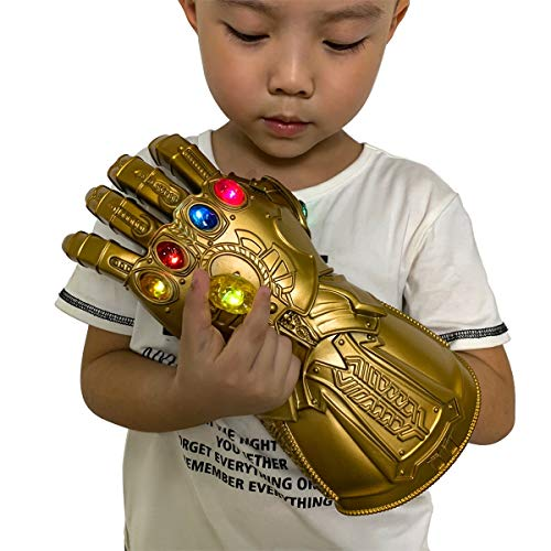 XXF New Iron Man Infinity Gauntlet for Kids, Iron Man Glove LED with Removable Magnet Infinity Stones-3 Flash Mode. (Kids)
