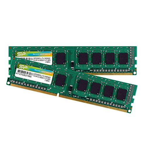Silicon Power 16GB Kit DDR3-1600 MT/s 240 Pin Dual 1.35V/1.5V UDIMM Desktop Memory SP016GLLTU160N22 by Silicon Power (Image #2)