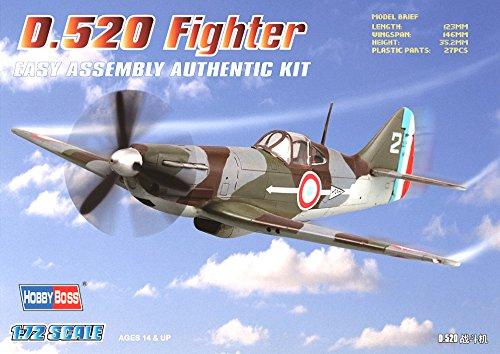 Hobby Boss D.520 Fighter Airplane Model Building Kit, 1/72 (Fighter Airplane Model Kit)