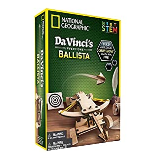 NATIONAL GEOGRAPHIC Construction Model Kit – Build Your Own Wooden Model of The Original Ballista, Learn About Da Vinci…