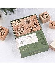 RisyPisy Wodden Rubber Stamp Set