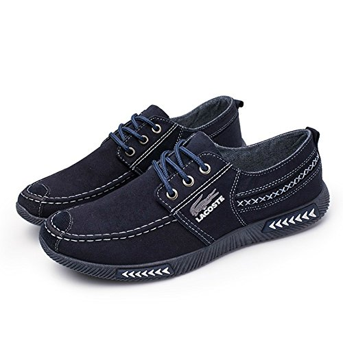 Planos Suave Gris 40 Color Caqui CN 43 39 Color de Costura B Elemento Goma 41 de Hombre Super de Coser Lona 42 Zapatos Azul 44 Clásico Talla de armada de Suela Mocasines CvqRw6xg