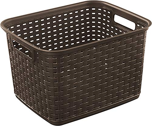 STERILITE 12736P06 Tall Wicker weave basket Multicolor , (Pack of 1)