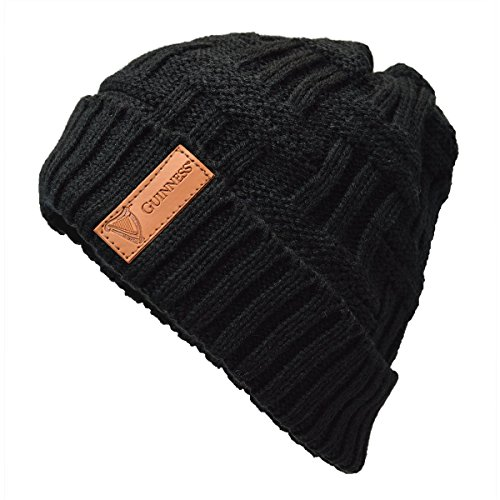Guinness Black Beanie with Leather Patch ()