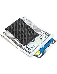 Carbon Fiber Money Clip Front Pocket Wallet Minimalist Wallet Slim Wallet Credit Business Card Holder