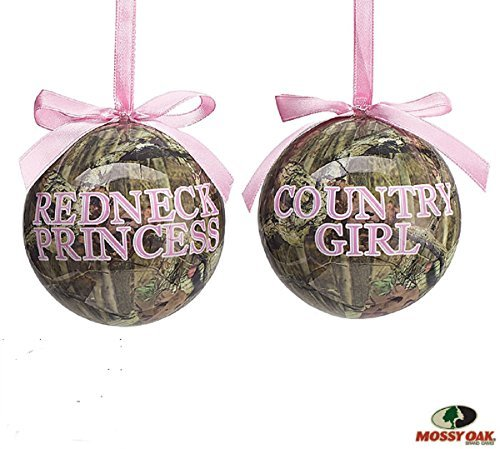 Set of 2 Mossy Oak Christmas Tree Ornaments with