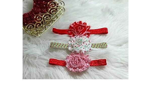 3 Christmas Headbands Headband Baby Girl Headband Baby Headband Baby Girl Holiday Headband Set Infant Headband Christmas Headband Set
