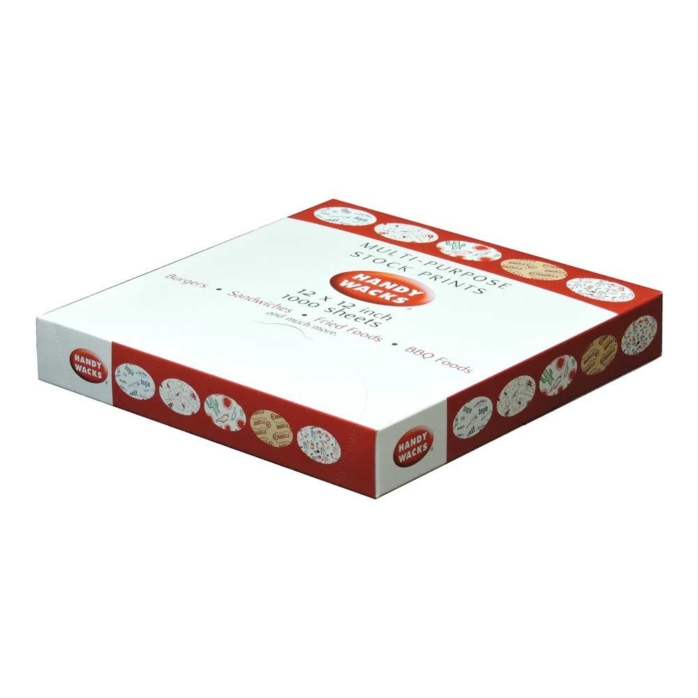 Handy Wacks Orange Checkerboard Wrap, 1000 Sheets per pack - 6 per case. by Handy Wacks