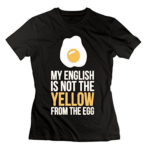 My English Is Not The Yellow From The Egg Logo Organic Cotton Slim Fit T-Shirt For - Lf Where I Can Online Clothing Buy