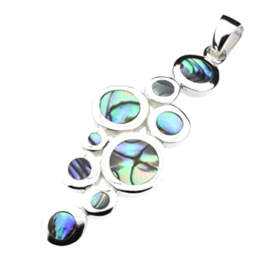 8b71192f4 Abalone Paua Shell & 925 Sterling Silver Pendant: Amazon.co.uk: Jewellery