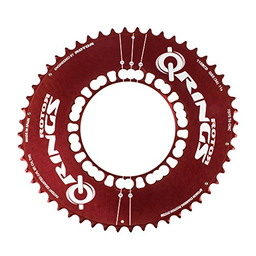 Rotor Q-Ring Aero 52t 110BCD Outer Red by rotor