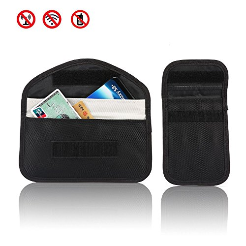 Aolvo GSM Signal Blocker Case, RFID Keyless Entry Signal Blocking Pouch,Anti-Car Thieves Bag,Cell Phone Jammer Signal Blocking WIFI/LTE/NFC for Protecting Gravida, 2PCS