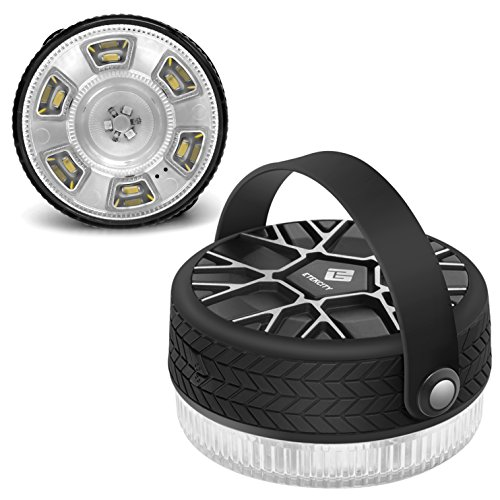 Etekcity Compact Waterproof Rechargeable Led Camping Lantern with Magnetic Base, Brightness Control, Seven...