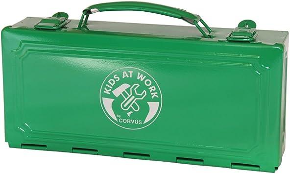 CORVUS A600149 Caja de herramientas de metal en color verde: Amazon.es: Bricolaje y herramientas