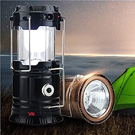 Naivete 6 LED Solar Rechargeable Camping Lantern Multicolor