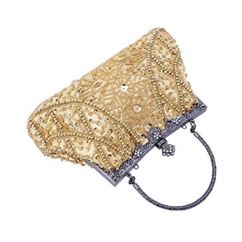 Clutch Bag Yellow Wedding Evening Lady Strap Purse Wallet Prom Handbag Messenger ROSE GOLD Handbag Party Women Numkuda wSz4xqO