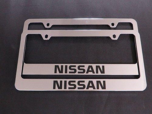 2 Brand New nissan chromed METAL license plate frame (Nissan License Plate Frame)